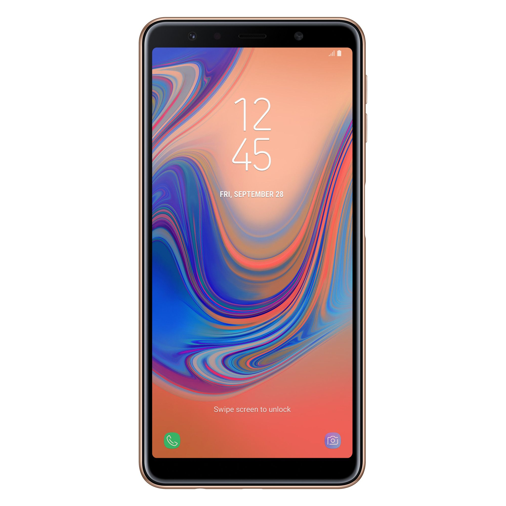 Telefon Mobil Samsung A750 Galaxy A7 (2018) 128GB Flash 4GB RAM Dual SIM 4G Gold