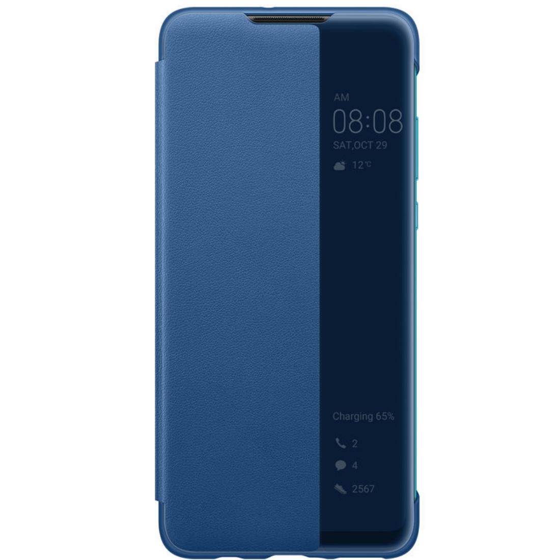 Husa Huawei Flip Smart View Cover pentru Huawei P30 Lite Blue