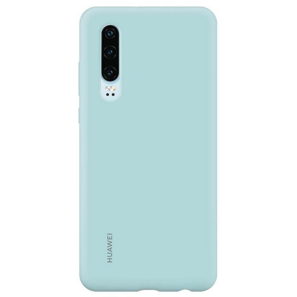Capac protectie spate Huawei Silicone Cover pentru Huawei P30 Light Blue