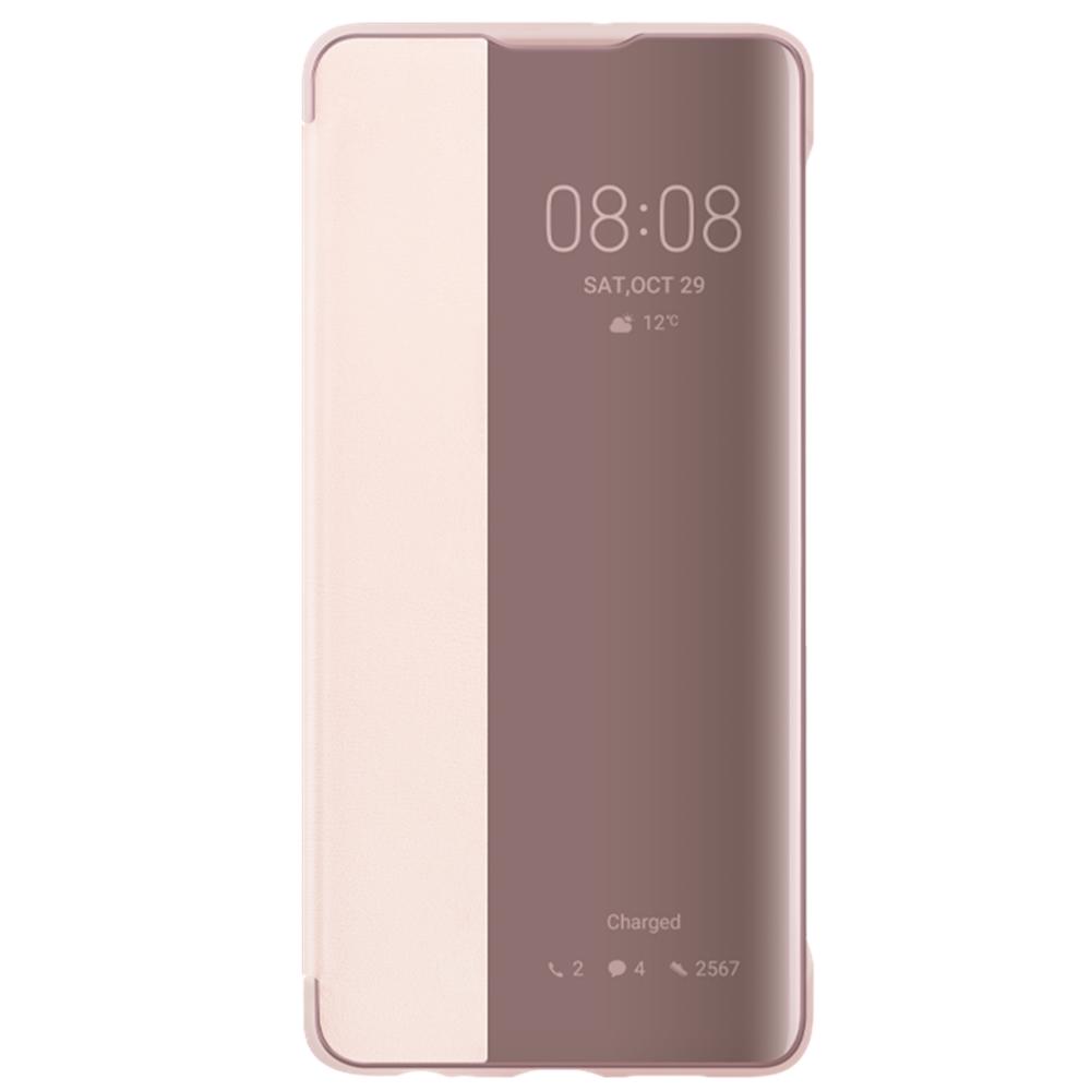 Husa Huawei Flip Smart View Cover pentru Huawei P30 Pink