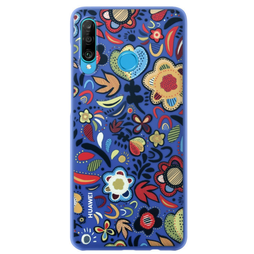 Capac protectie spate Huawei pentru Huawei P30 Lite Flower Blue