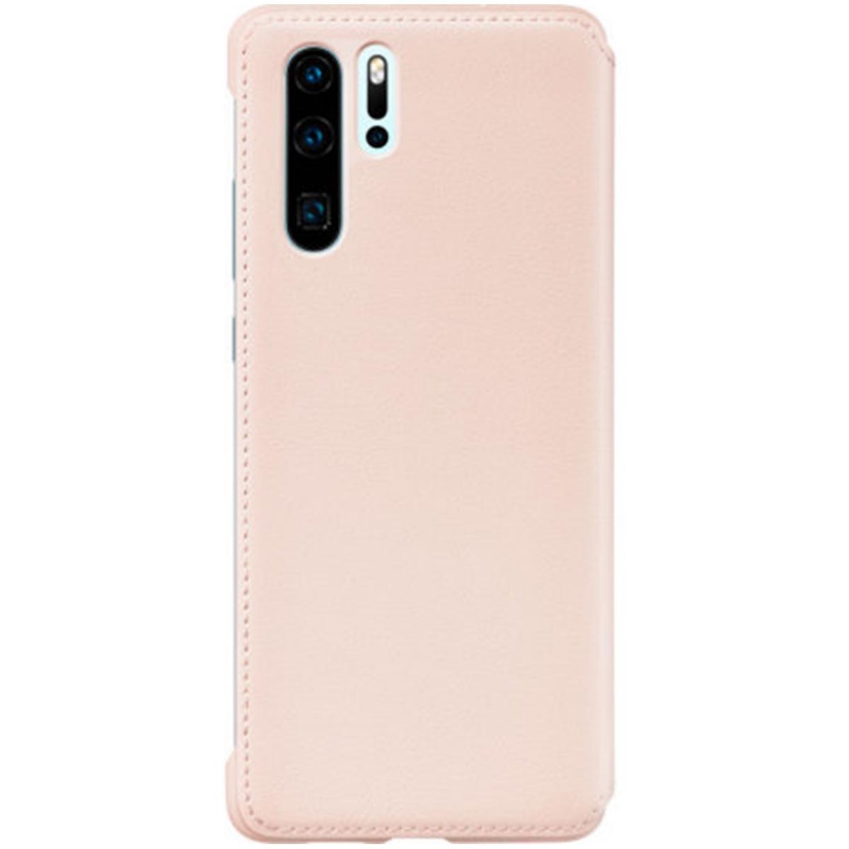 Husa Huawei Flip Wallet Cover pentru Huawei P30 Pro Pink