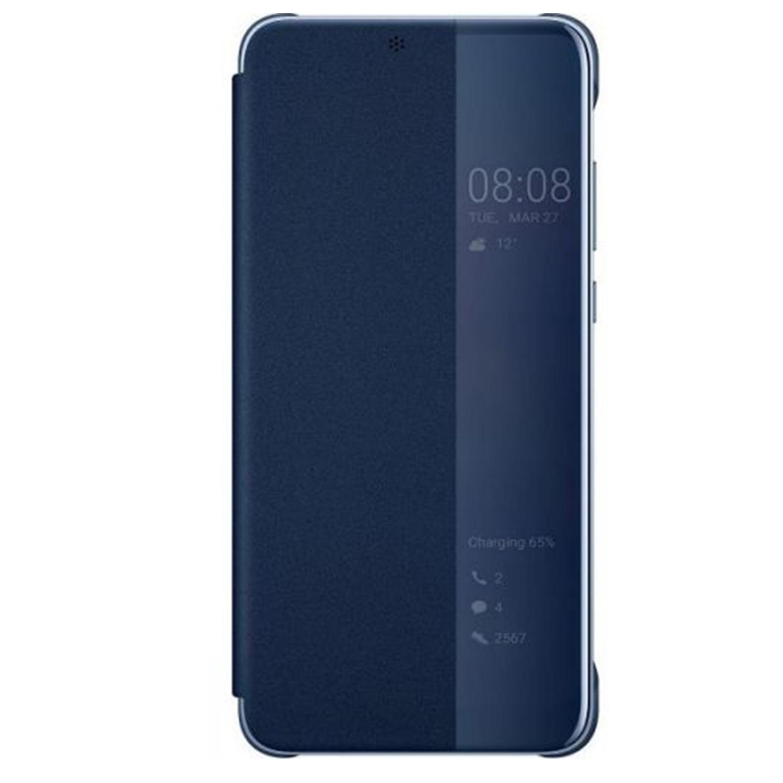 Husa Flip View Cover pentru Huawei P20 Blue