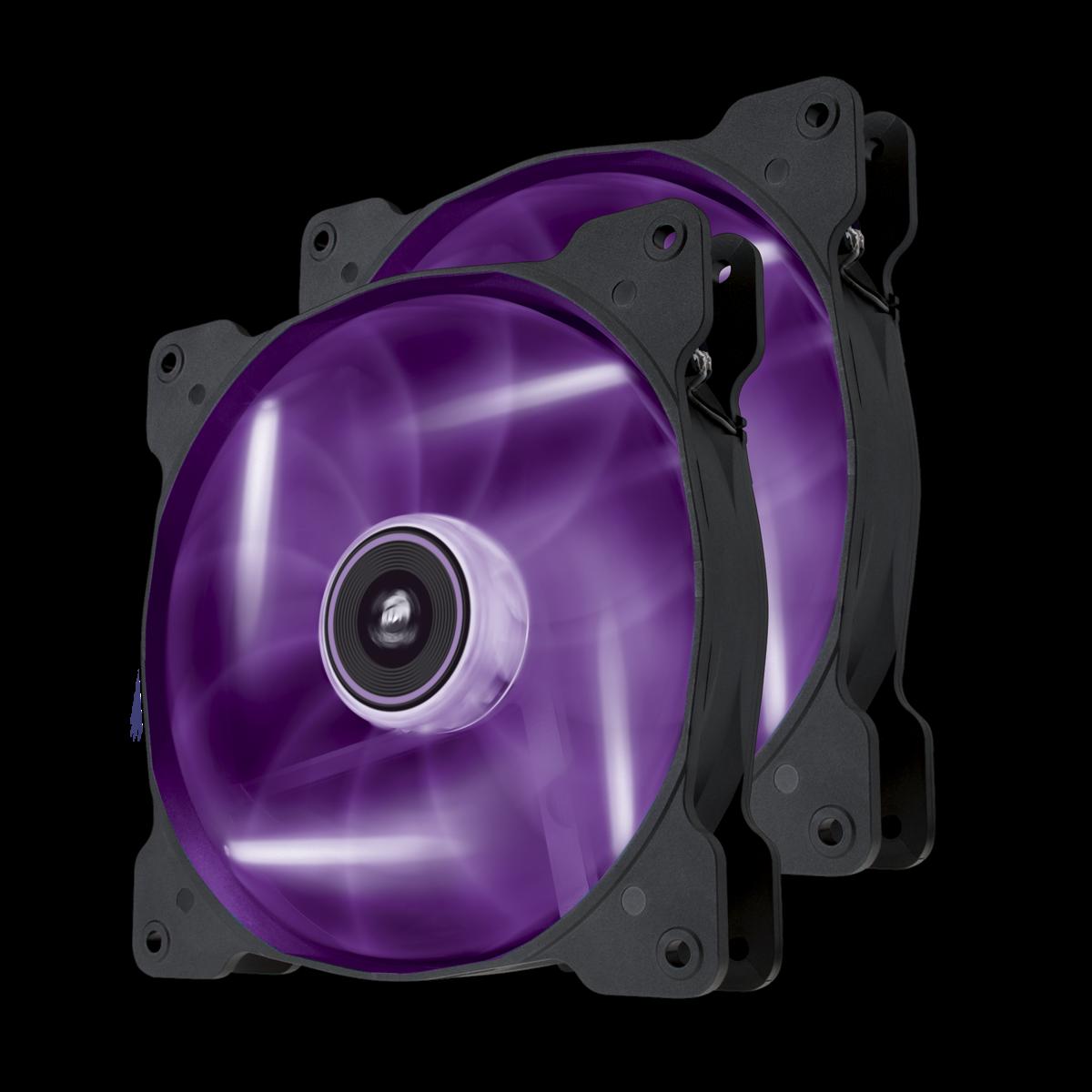Ventilator Corsair Air Series SP140 LED Purple High Static Pressure 140mm Fan Twin Pack