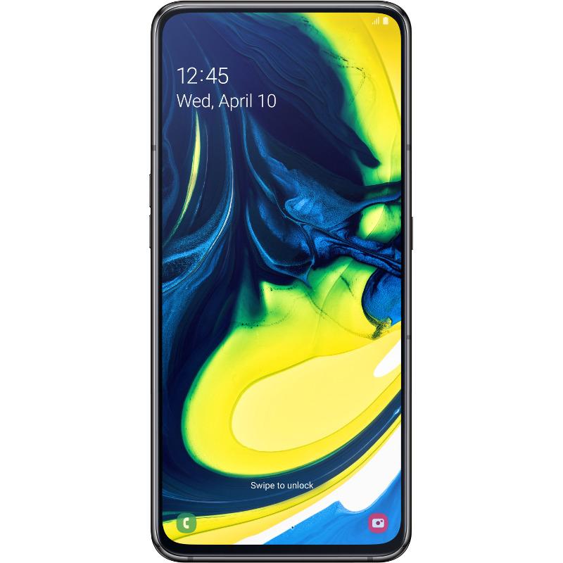 Telefon Mobil Samsung Galaxy A80 128GB Flash 8GB RAM Dual SIM 4G Camera tripla rotativa Black