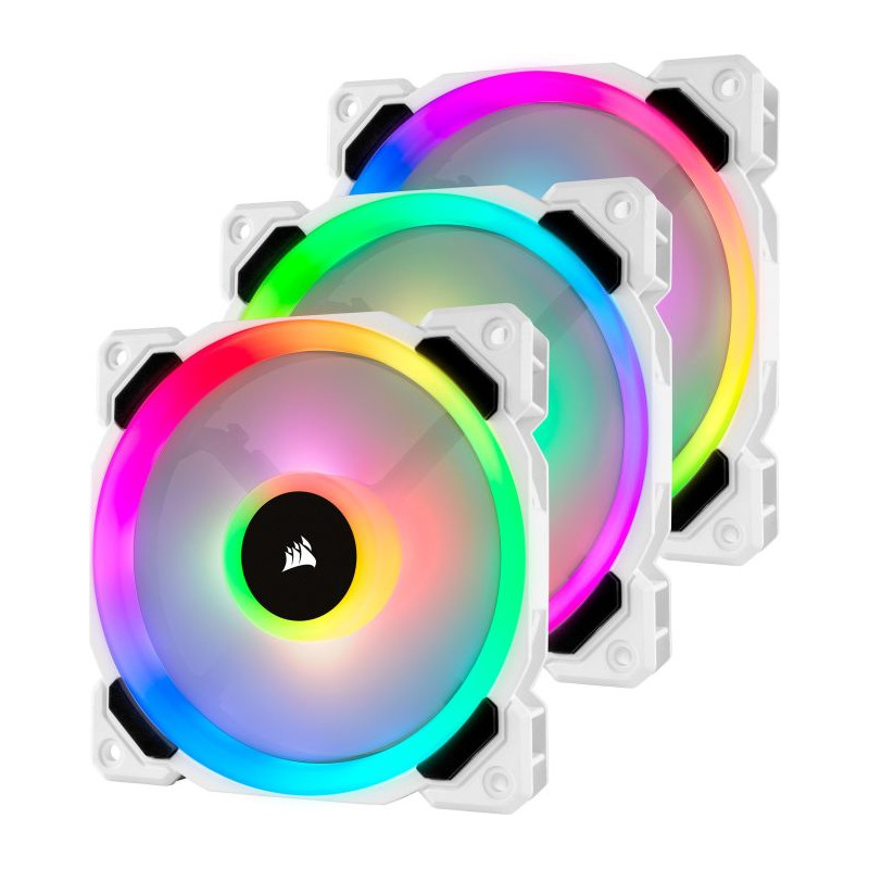Ventilator Corsair LL120 White RGB LED 120mm Three Fan Pack