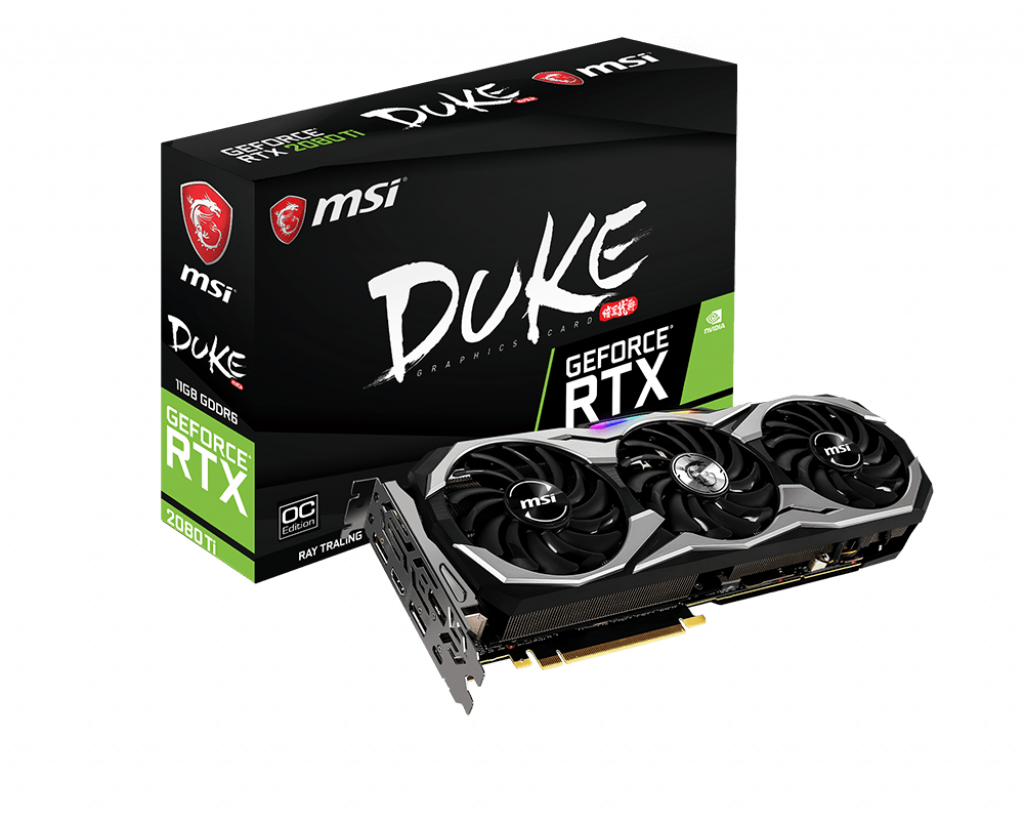 Placa Video MSI GeForce RTX 2080 Ti DUKE OC 11GB GDDR6 352 biti