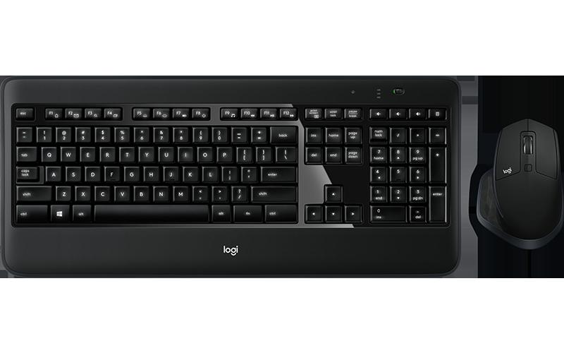 Kit Tastatura & Mouse Logitech Wireless Performance Combo MX900 DE Layout Black