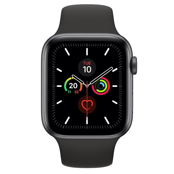 Smartwatch Apple Watch Series 5 Gps + Cellular 44mm 4g Carcasa Space Grey Aluminum Bratara Sport Black