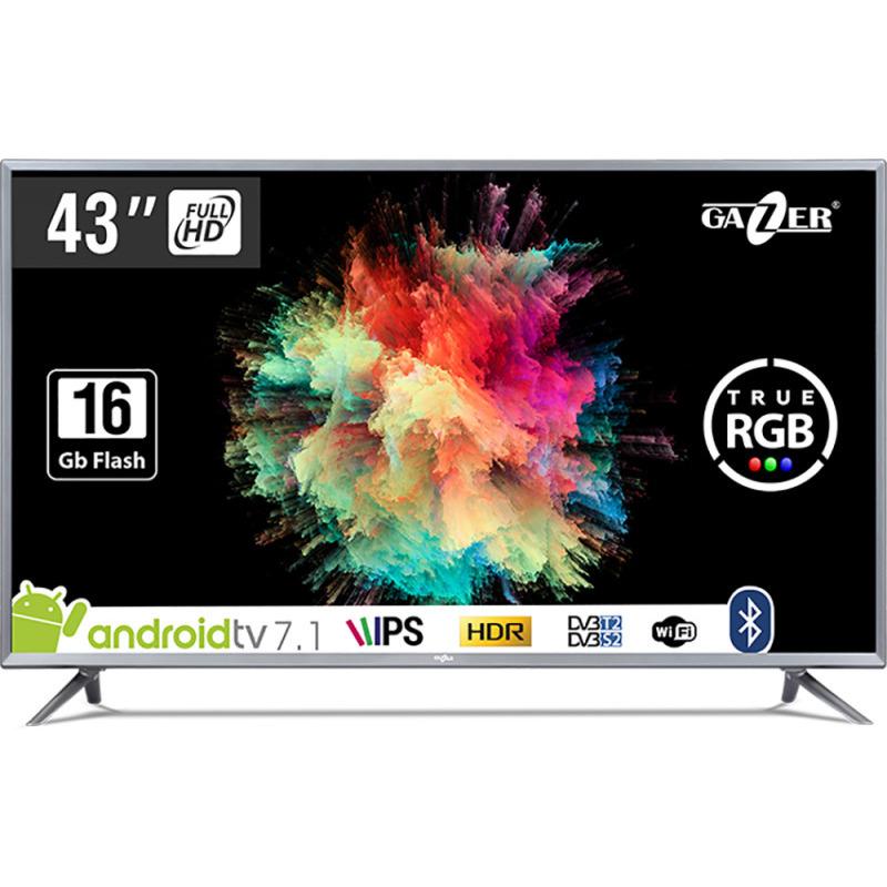 Televizor Led Gazer Smart Tv Tv43-fs2g 109cm Full Hd Negru/gri