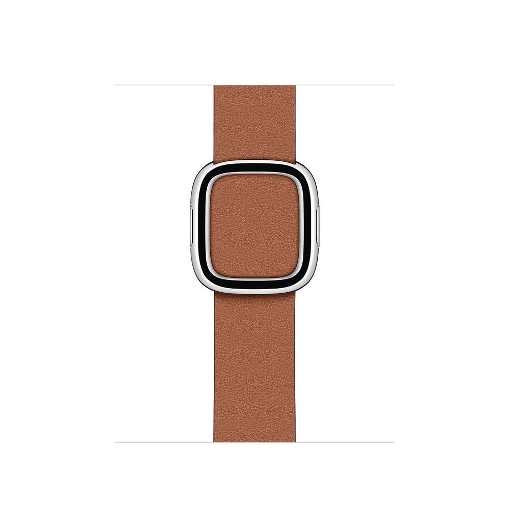 Curea Smartwatch Apple pentru Apple Watch 40mm Saddle Brown Modern Buckle - Medium