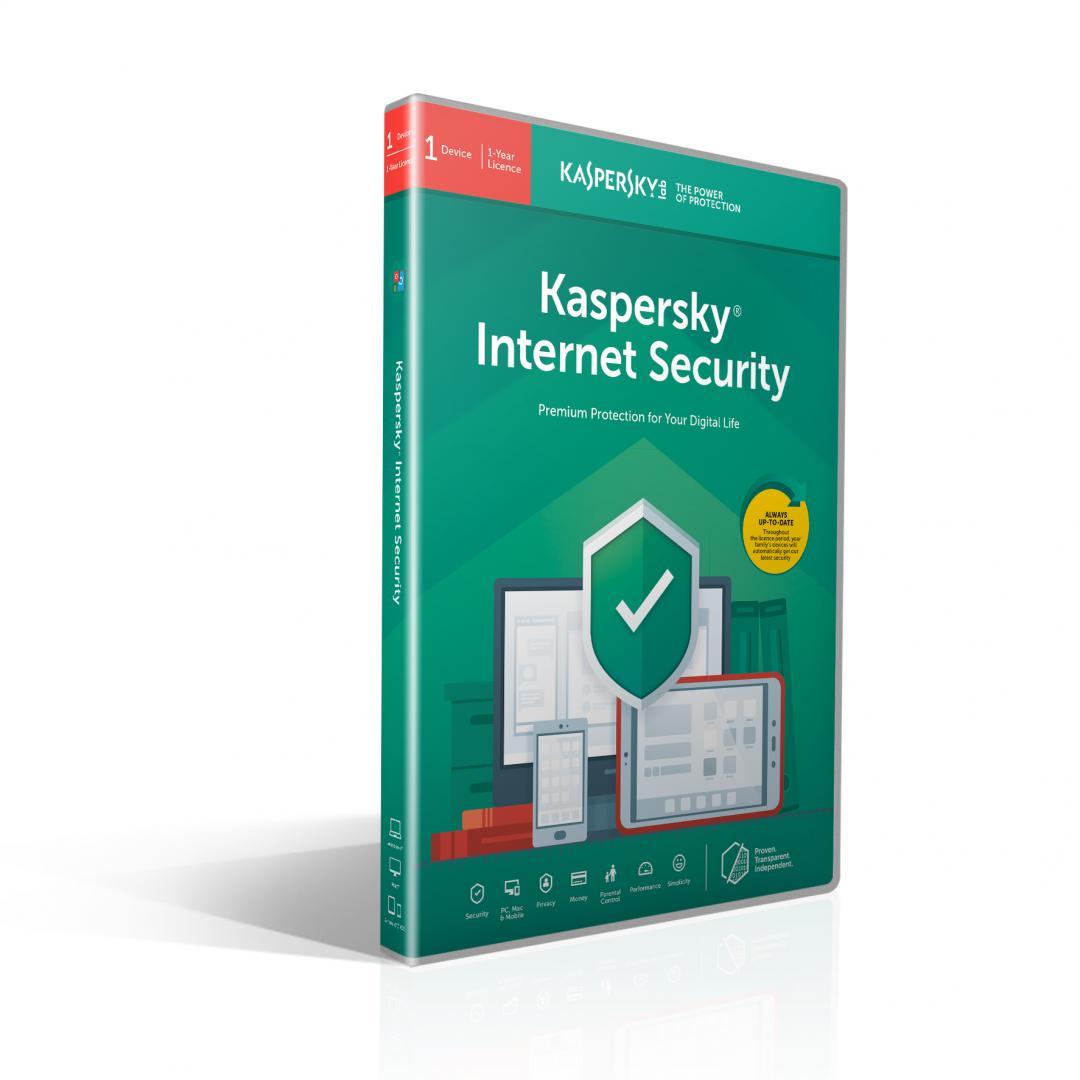 Kaspersky Internet Security Licenta Retail 1 an 3 echipamente Renew