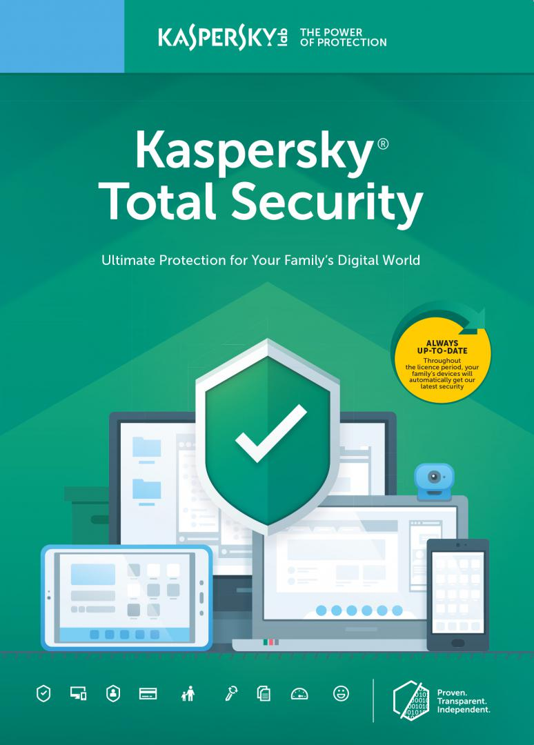 Kaspersky Total Security Licenta Electronica 1 an 2 echipamente New