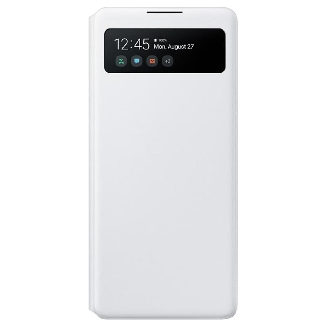 Husa S-View Wallet Cover Samsung EF-EG770 pentru Galaxy S10 Lite (G770) White