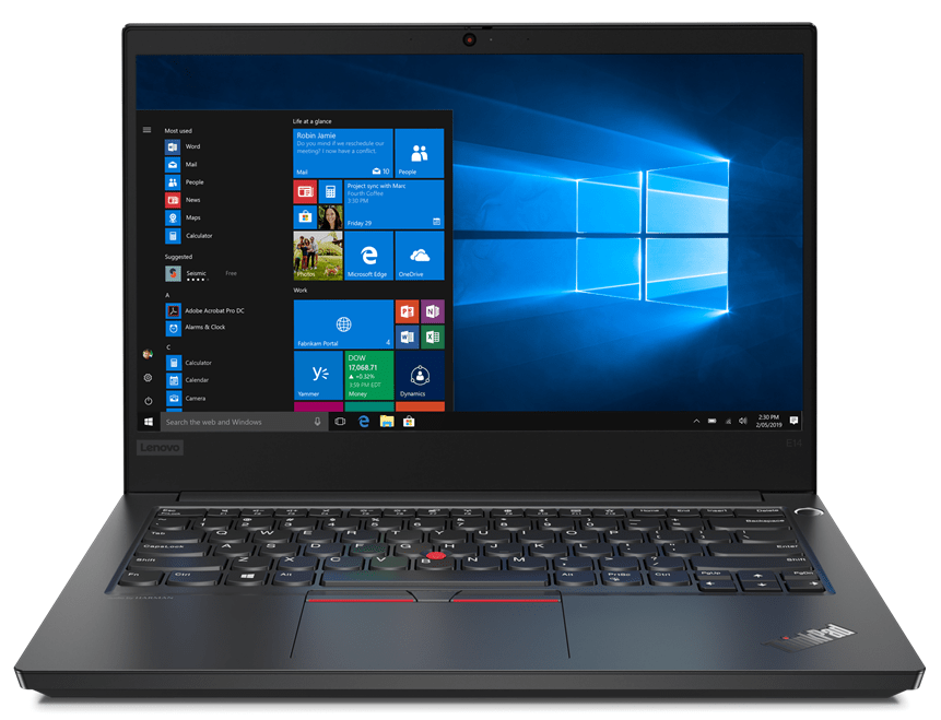 Notebook Lenovo ThinkPad E14 14 Full HD Intel Core i5-10210U RAM 8GB SSD 256GB Windows 10 Pro Negru