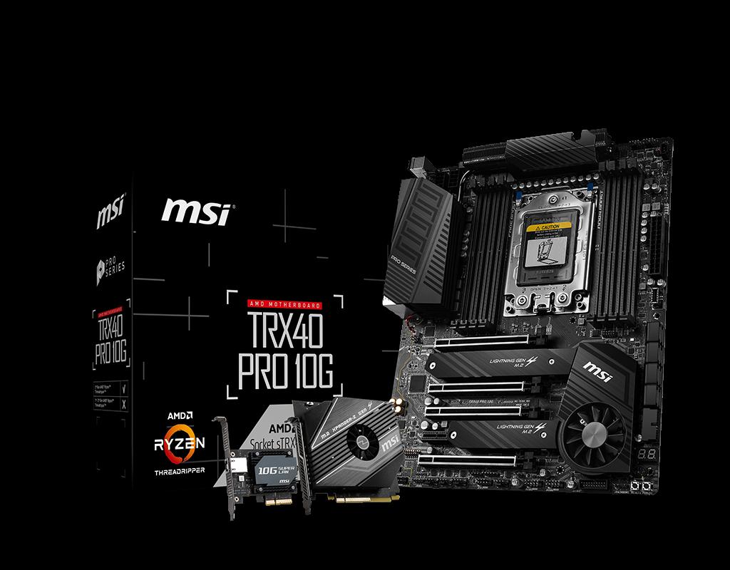 Placa de baza MSI TRX40 PRO 10G Socket TRX4