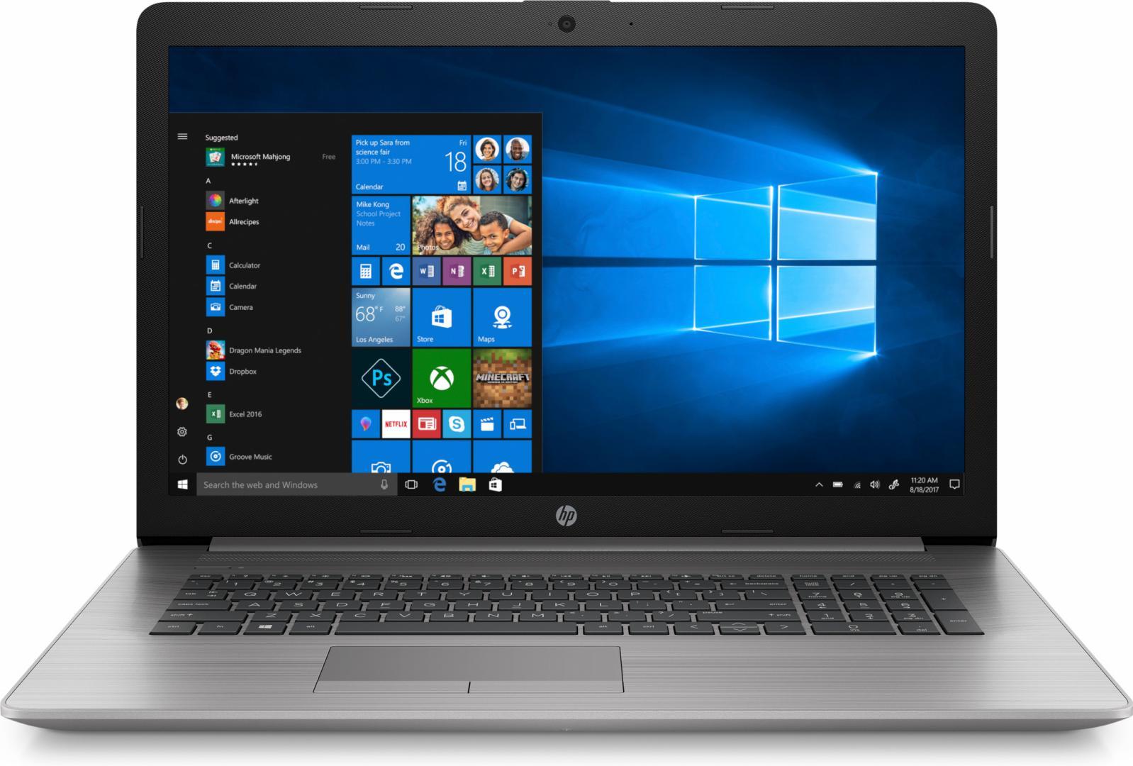 Notebook HP ProBook 470 G7 17.3 Full HD Intel Core i5-10210U Radeon 530-2GB RAM 8GB SSD 256GB Windows 10 Pro Argintiu