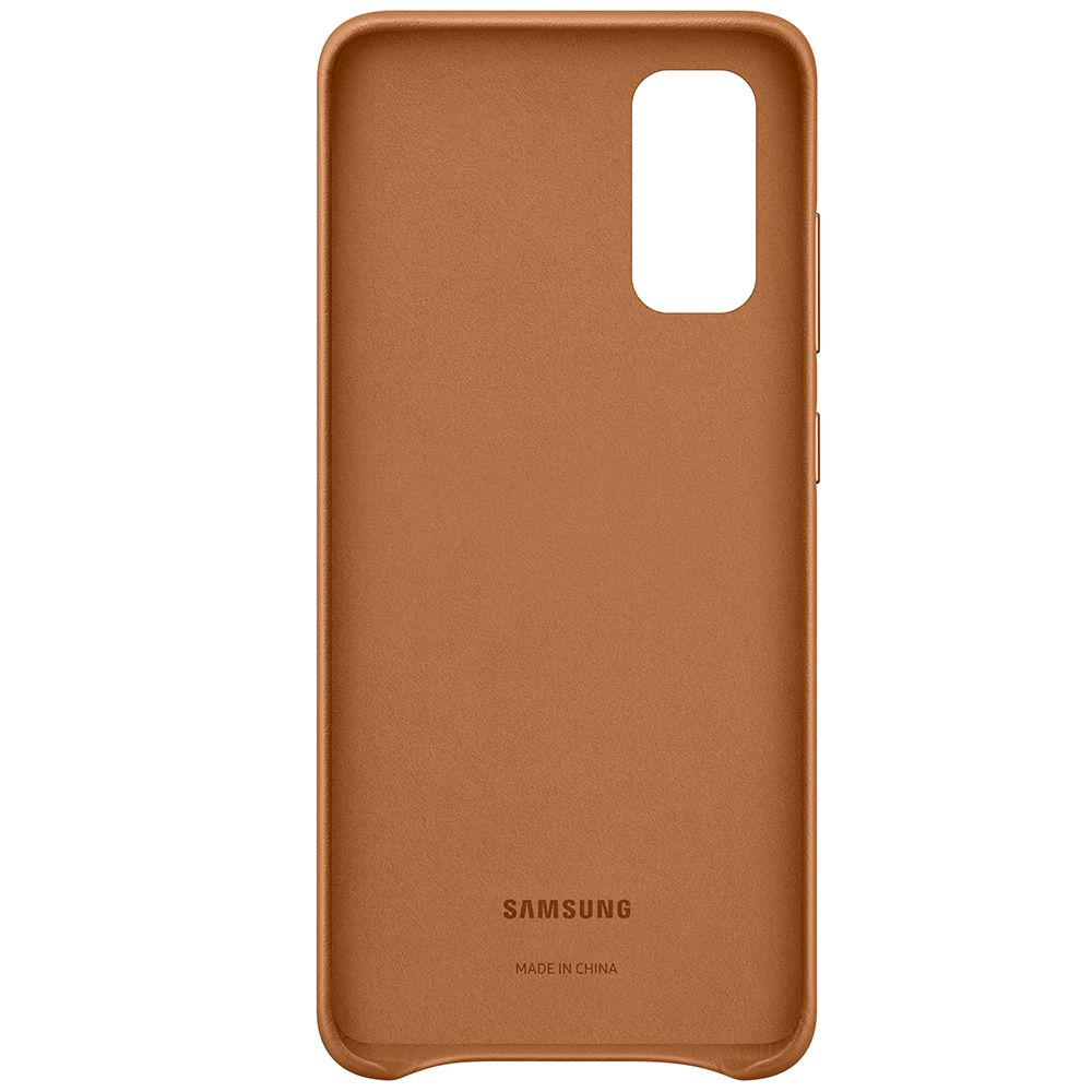 Capac protectie spate Samsung Leather Cover pentru Galaxy S20 Brown