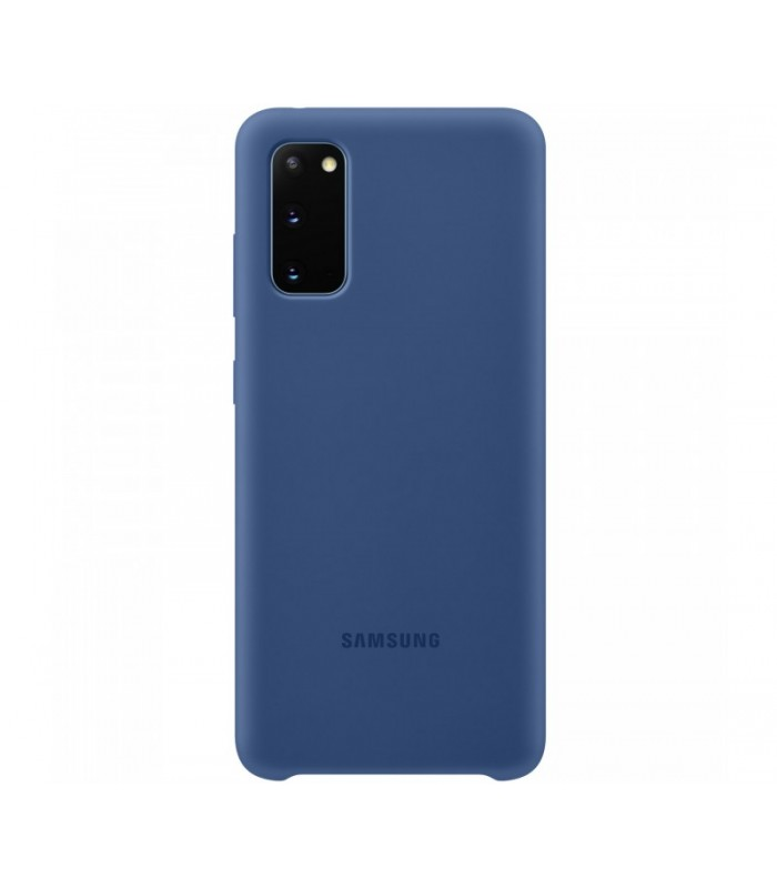 Capac protectie spate Samsung Silicone Cover pentru Galaxy S20 Blue