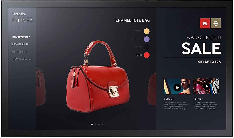 Monitor Interactiv cu Touchscreen Samsung PM32F-BC 32 Full HD 8ms Negru