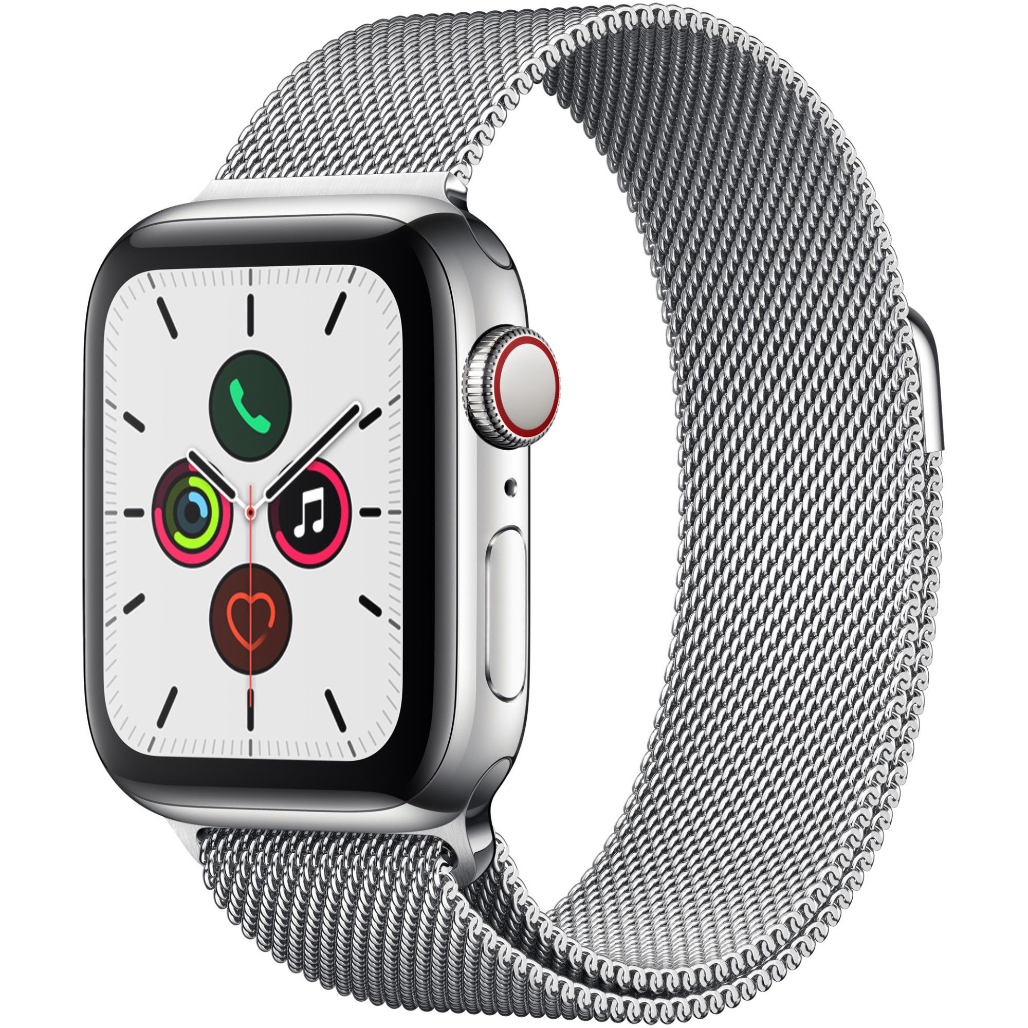 Smartwatch Apple Watch Series 5 GPS + Cellular 40mm 4G Carcasa Stainless Steel Bratara Stainless Steel Milanese