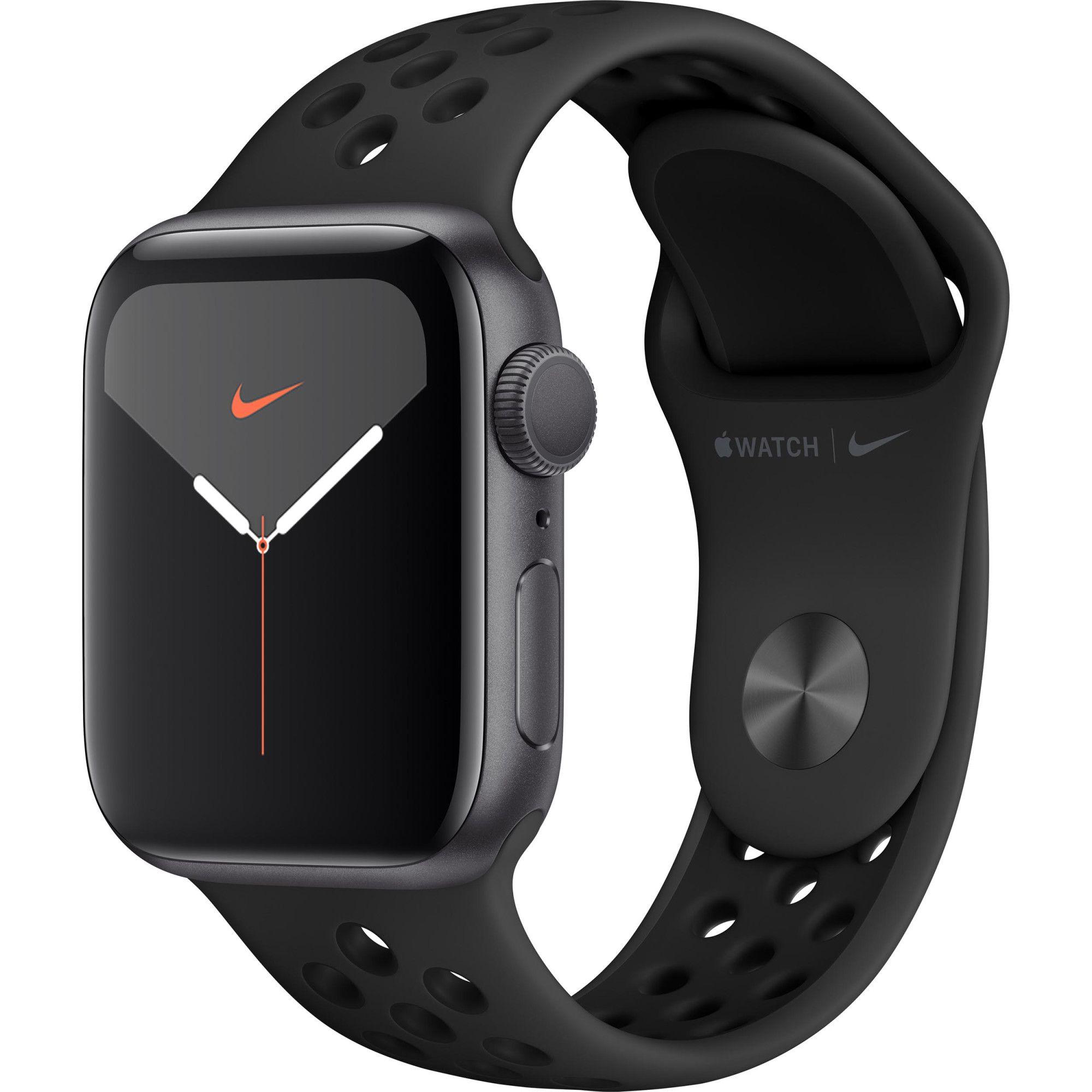 Smartwatch Apple Watch Nike 5 GPS 40mm 4G Carcasa Space Gray Aluminium Bratara Anthracite/Black Nike Sport