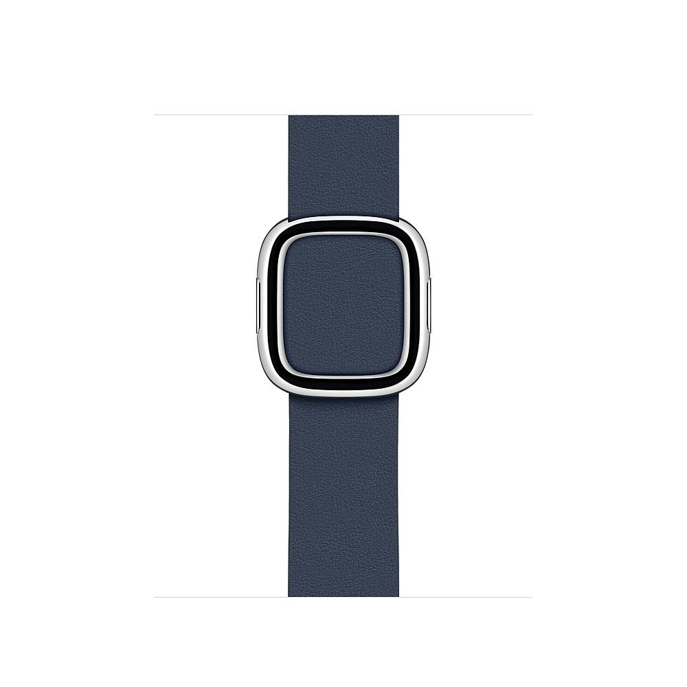 Curea Smartwatch Apple pentru Apple Watch 38/40mm Deep Sea Blue Modern Buckle - Medium