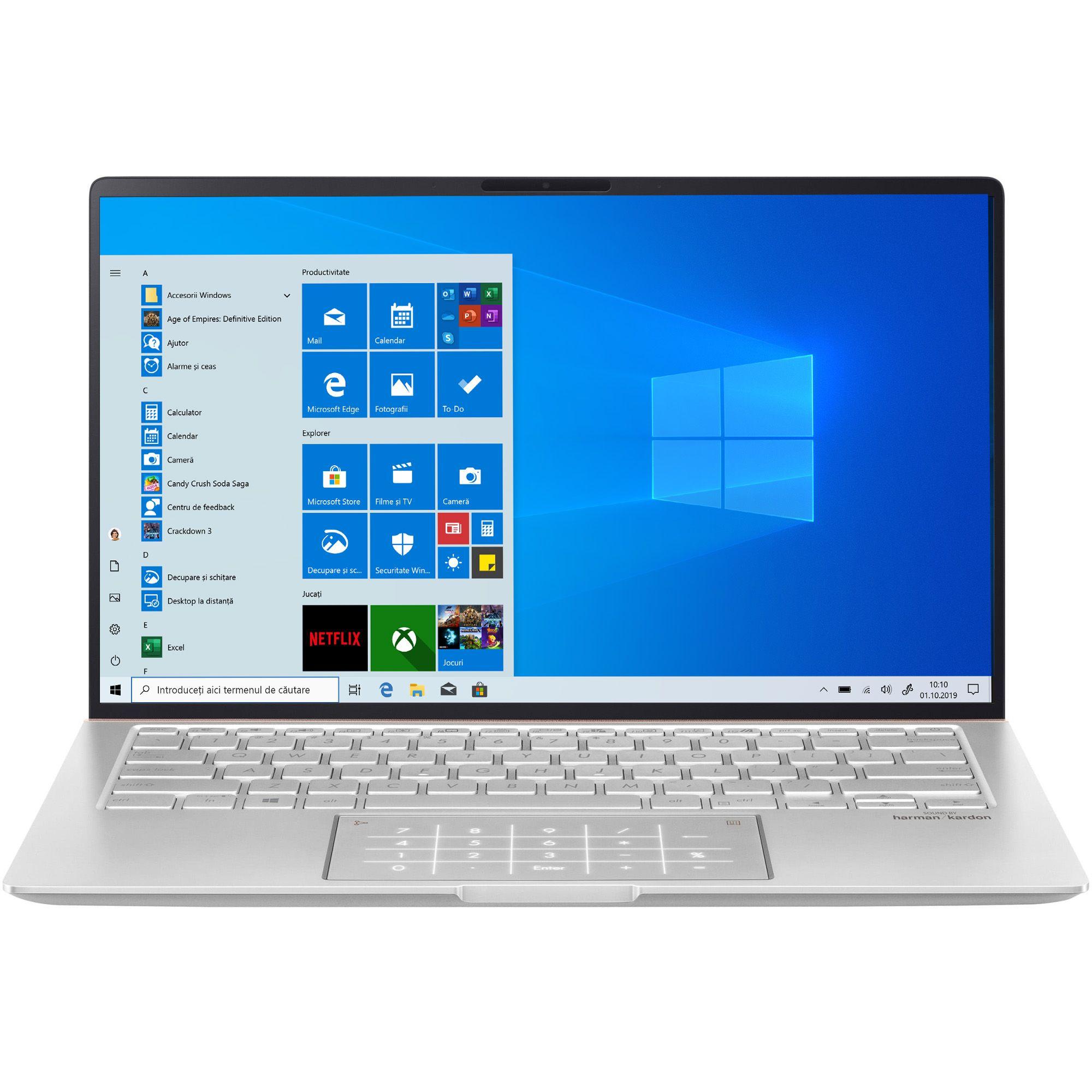 Ultrabook Asus Zenbook Um433da 14 Full Hd Amd Ryzen 7 3700u Ram 16gb Ssd 1tb Windows 10 Home Argintiu