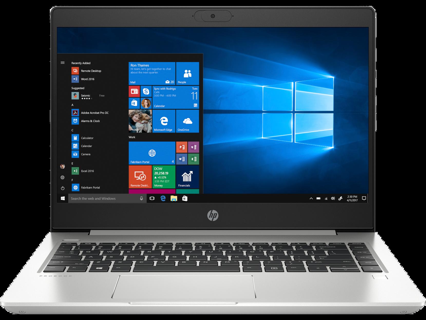 Notebook HP ProBook 440 G7 14 Full HD Intel Core i5-10210U RAM 8GB HDD 1TB + SSD 256GB Windows 10 Pro Argintiu