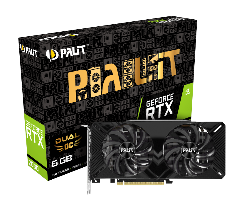 Placa Video Palit GeForce RTX 2060 Dual OC 6GB GDDR6 192 biti