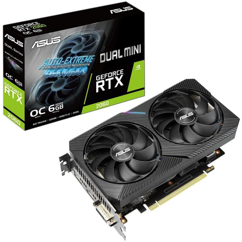 Placa Video ASUS GeForce RTX 2060 MINI OC Dual 6GB GDDR6 192 biti