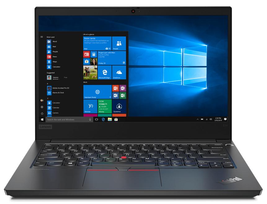 Notebook Lenovo ThinkPad E14 14 Full HD Intel Core i7-10510U RX 640-2GB RAM 16GB HDD 1TB + SSD 256GB Windows 10 Pro Negru