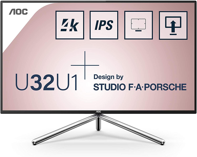 Monitor LED AOC Porsche U32U1 31.5 4K 5ms Negru