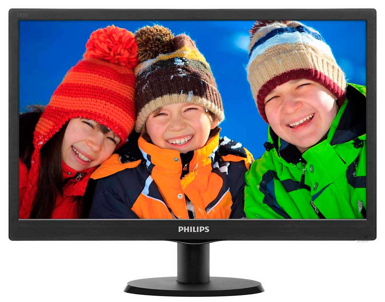 Monitor LED Philips 193V5LSB2 19 HD Ready 5ms Negru