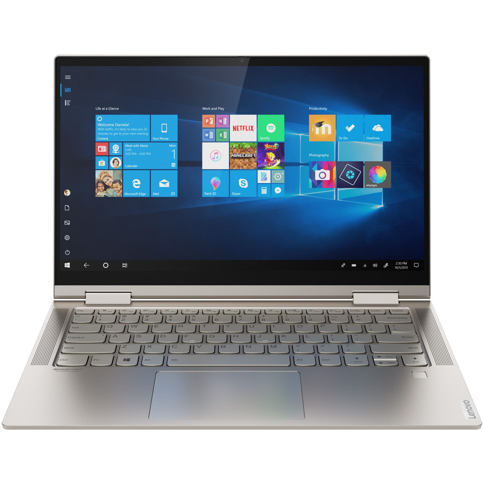Ultrabook Lenovo Yoga C740 14 Full HD Touch Intel Core i7-10510U RAM 16GB SSD 1TB Windows 10 Home Argintiu
