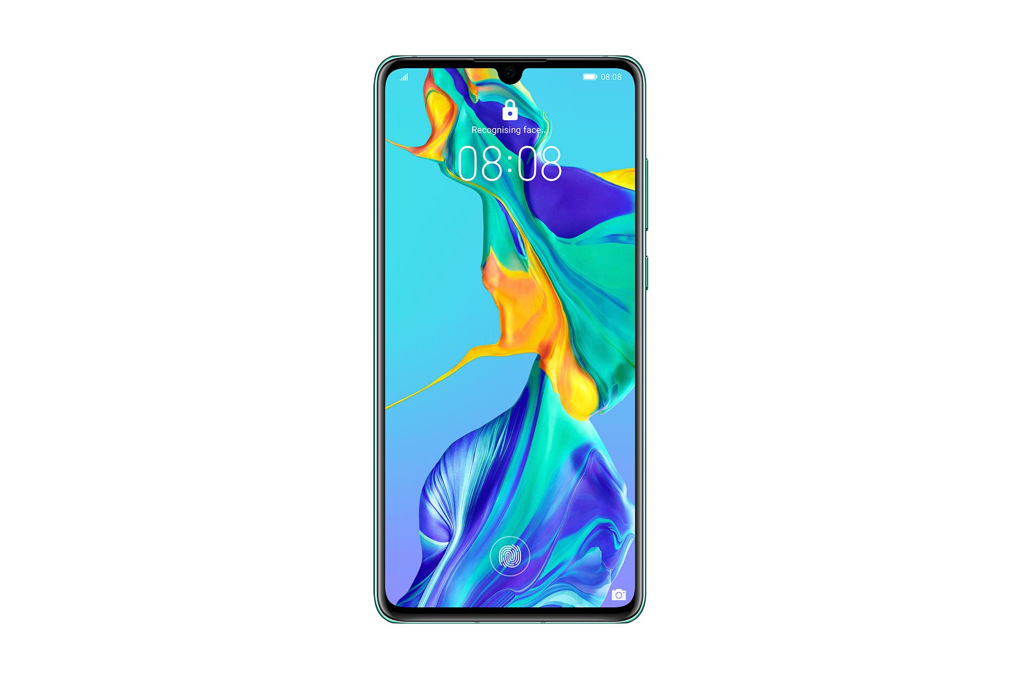 Telefon Mobil Huawei P30 128GB Flash 6GB RAM Single SIM 4G Aurora Blue